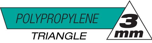 3mm Triangle Polypropylene Plastic Rods