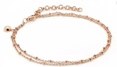 Anklet - Rose Gold Plated Two Strands