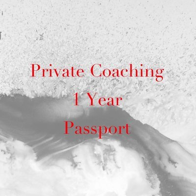 1 Year PRIVATE COACHING PASSPORT