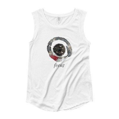 Ladies' Cap Sleeve T-Shirt Focus