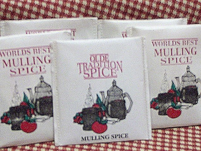 Mulling Spice Bags in Bulk (1,000 individually wrapped bags) $0.095/bag
