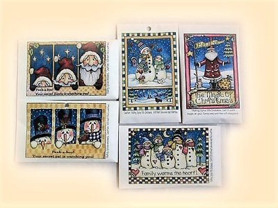 Christmas Holiday Pack of 5 Cards