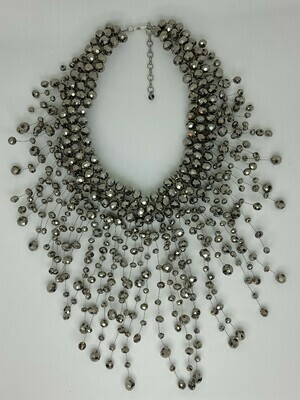 Grey Glamorama Statement Necklace