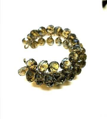 Stunning Luminous Smoky Trendy Crystal Bracelet