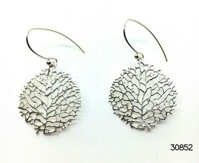 Lacy Silvery Drop Earrings