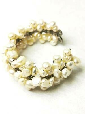Breathtaking Grey Freshwater Pearl Bracelet