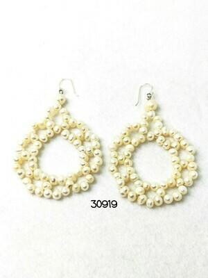 Freshwater Pearl Filigree Earrings