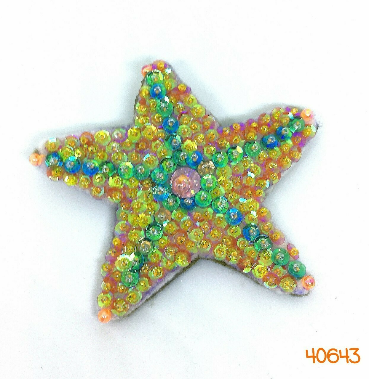 Sequin Starfish Brooch