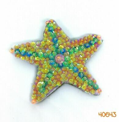 Sequin Starfish Brooch