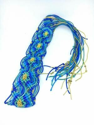 Cornflower Blue Braided Belt
