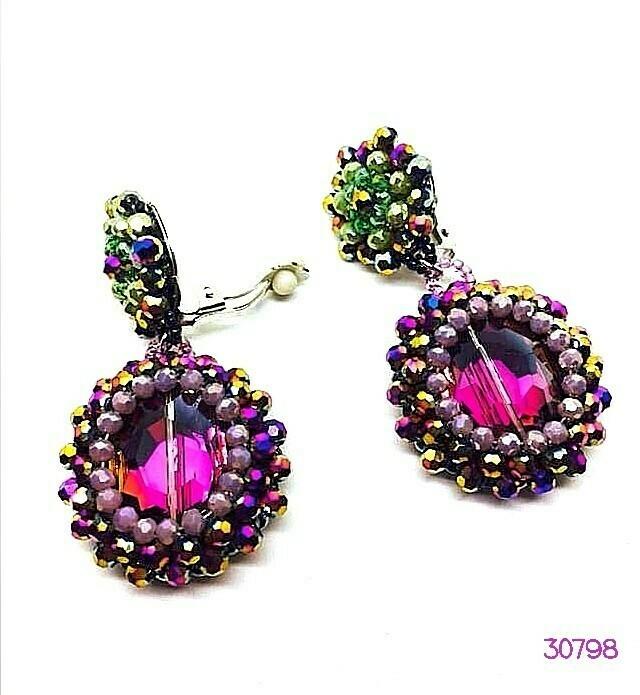 Purple Majesty Button Earrings