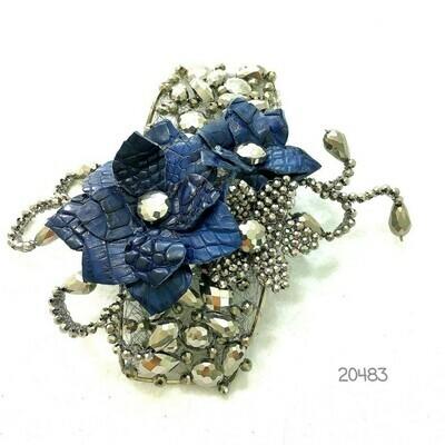 Shining Silvery & Blue Bracelet