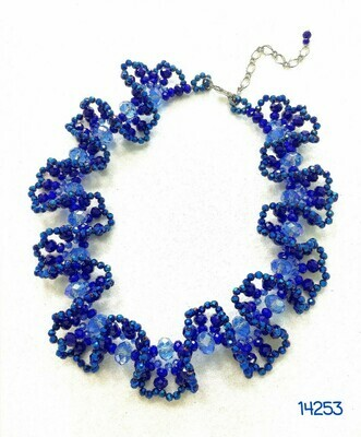 Brilliant Blue Crystal Necklace
