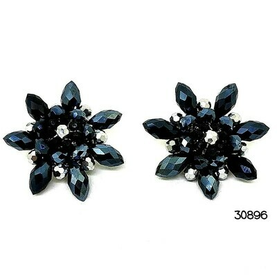 Pretty Pewter Button Earrings