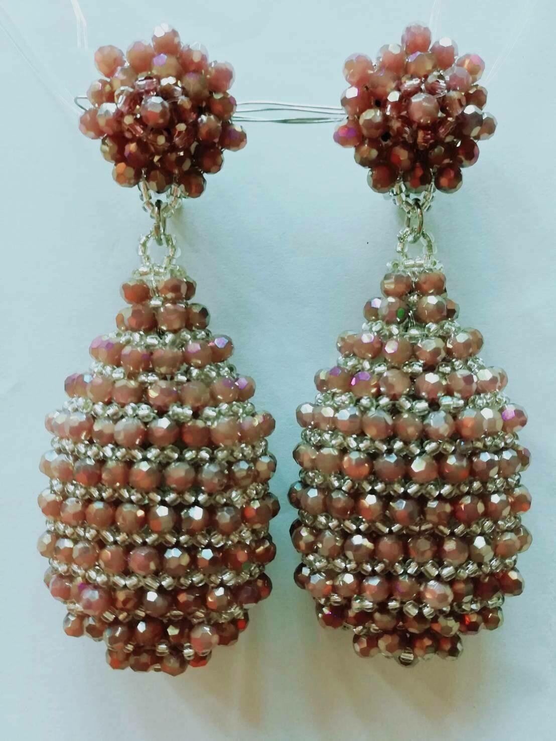 Golden Glitz and Glam Earrings