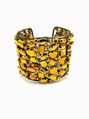 Golden Glamour Cuff Bracelet