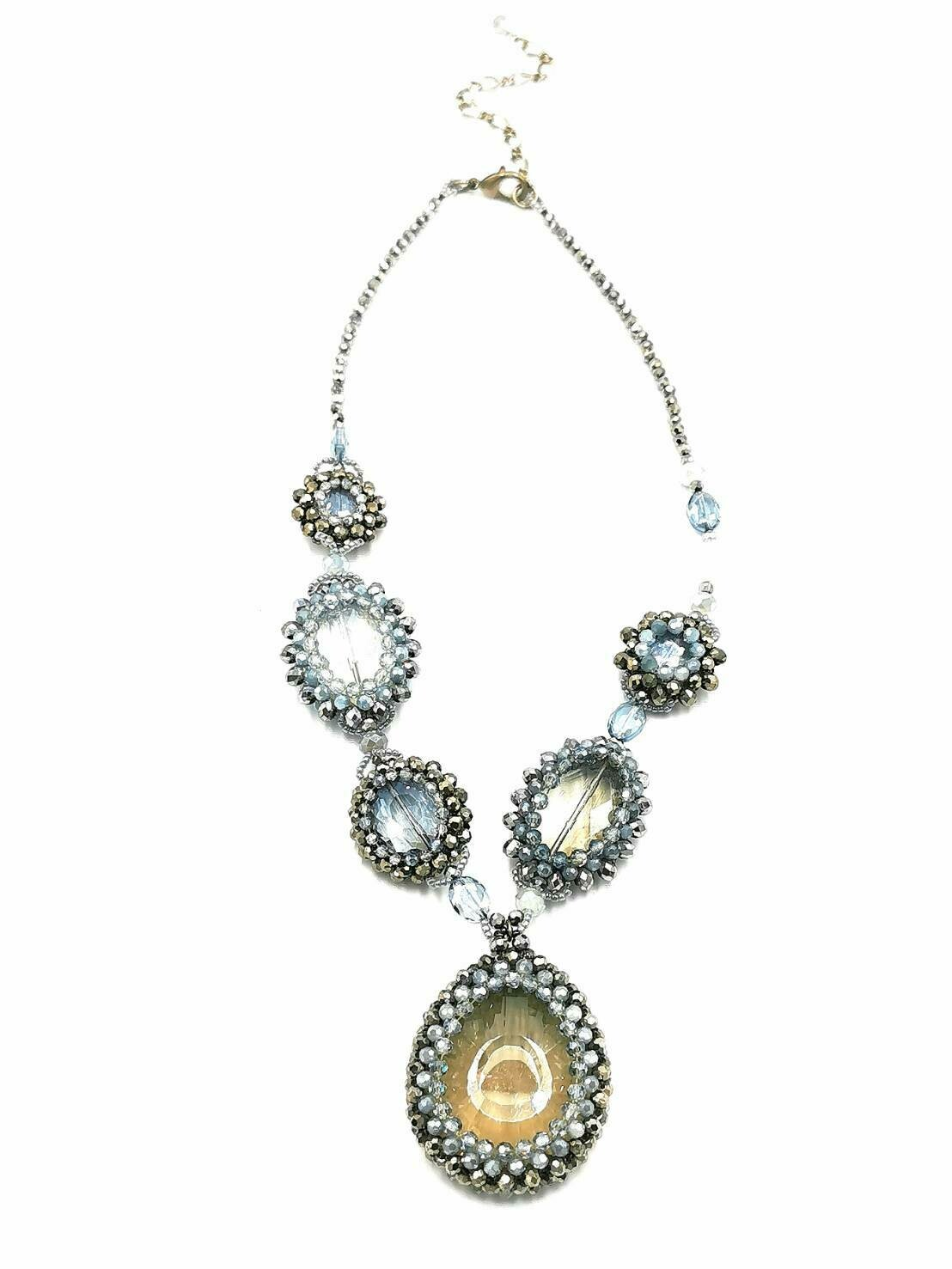 Pretty Pewter Statement Necklace