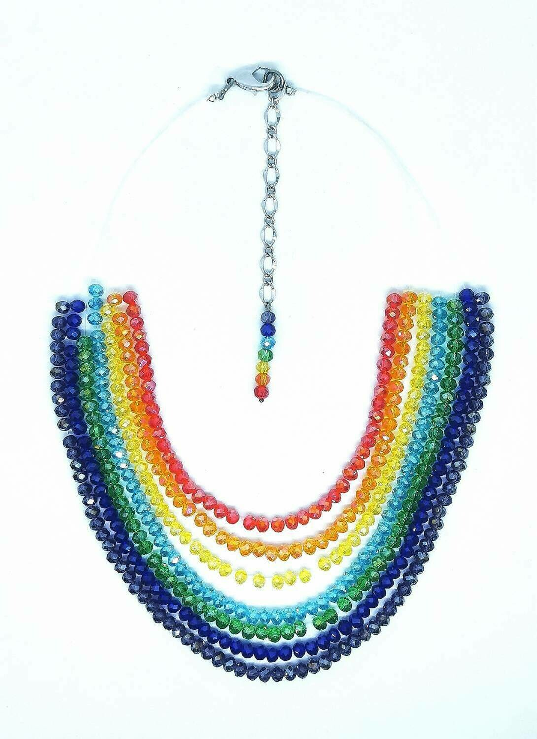 Rainbow Necklace In Support of Worldwide Health Workers !