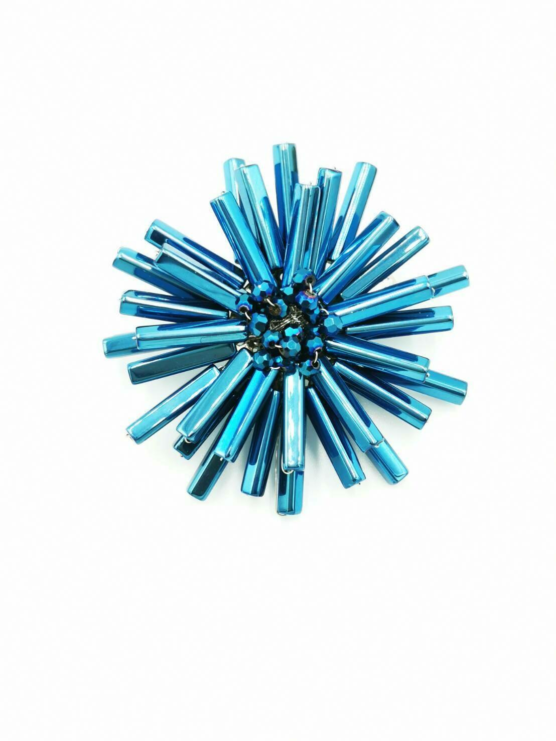 Atomic Crystals Brooch