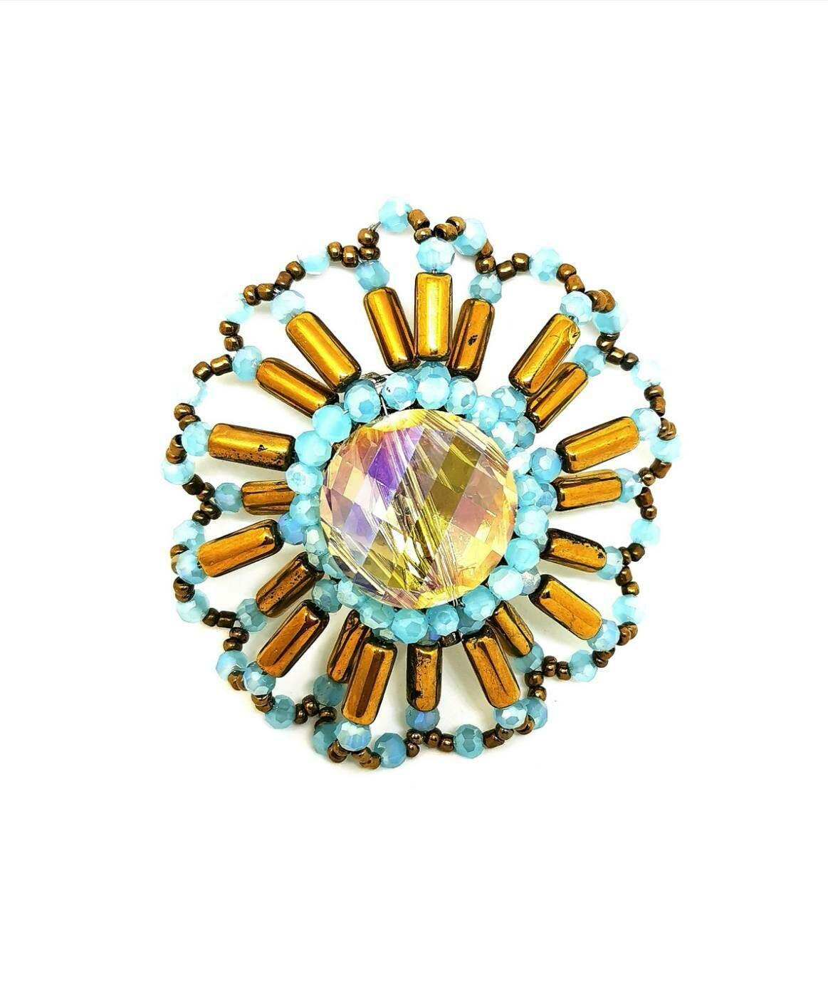 Golden Starburst Brooch