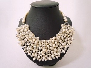 Pretty Pearls Bib Necklace