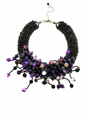 Plum Perfection Statement Necklace