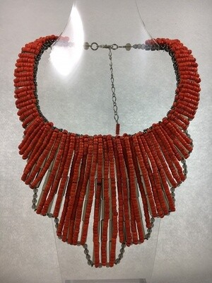 Racy Red Bib Necklace