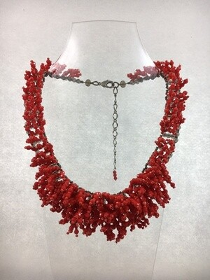 Really Red Racy Necklace
