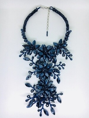 Beautiful Blue Garden Necklace