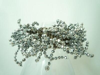 Silvery Sensation Bangle Bracelet
