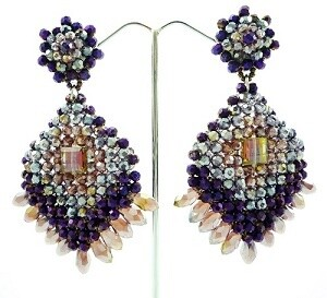 Deliciously Dangly Crystal Earrings