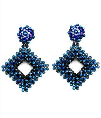 Bewitching Blue Dangle Earings