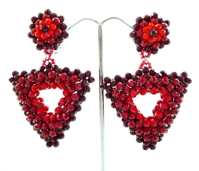 Red and Racy Dangle Earrings