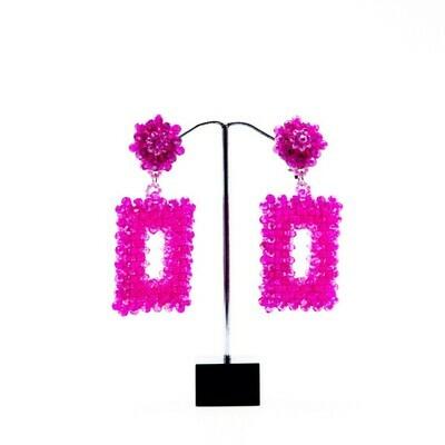 Prettily Pink Dangle Earrings