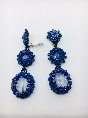 Boldly Blue Dangle Earrings