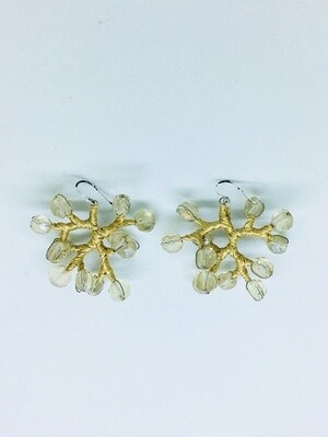 Golden Branches Earrings