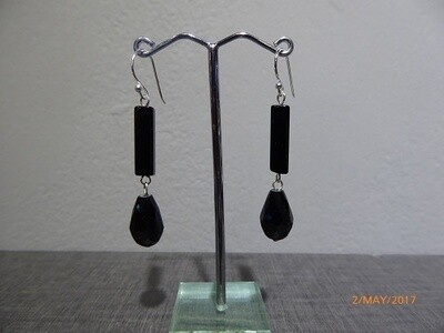 Black Tie Dangle Earrings