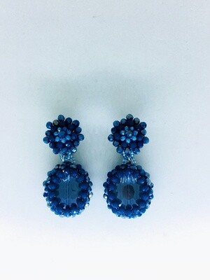 Ocean Waves Crystal Earrings