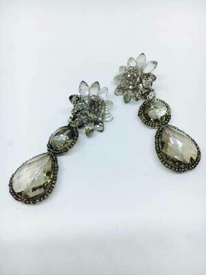 Victorian Lace Crystal Earrings