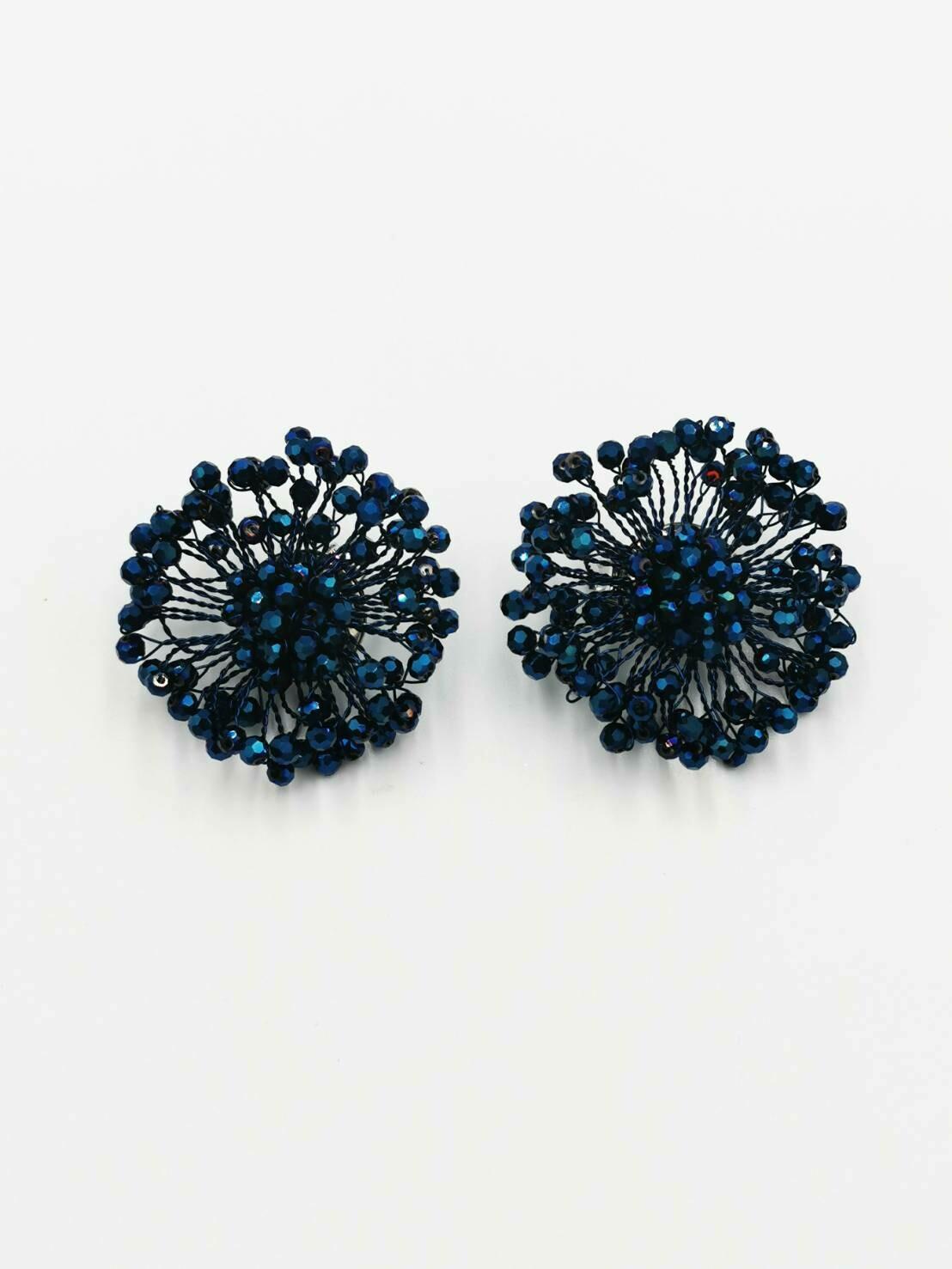 Deep Blue Crystal Earrings