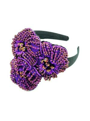 Purple Posies Hair Accessory