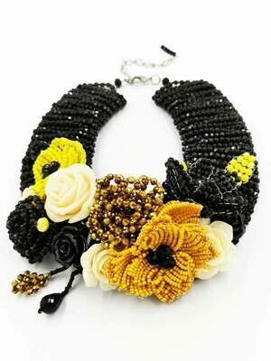 Flowery Fantasy Statement Necklace