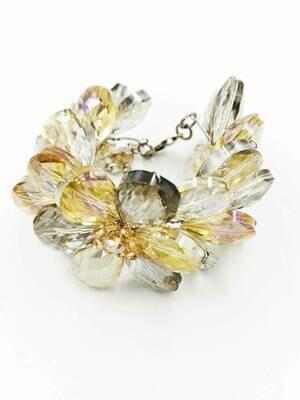 Glamorous Gold Crystal Bracelet
