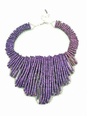 Racy Purple Bib Necklace