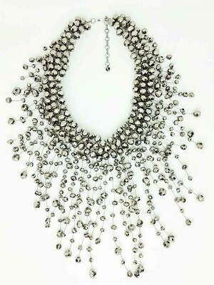 Grey Glamorama Statement Necklace