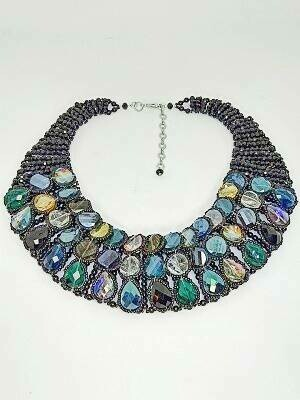 Crystal Collar Statement Necklace