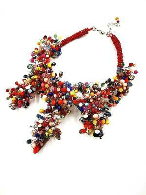Strands of Summer Statement Necklace