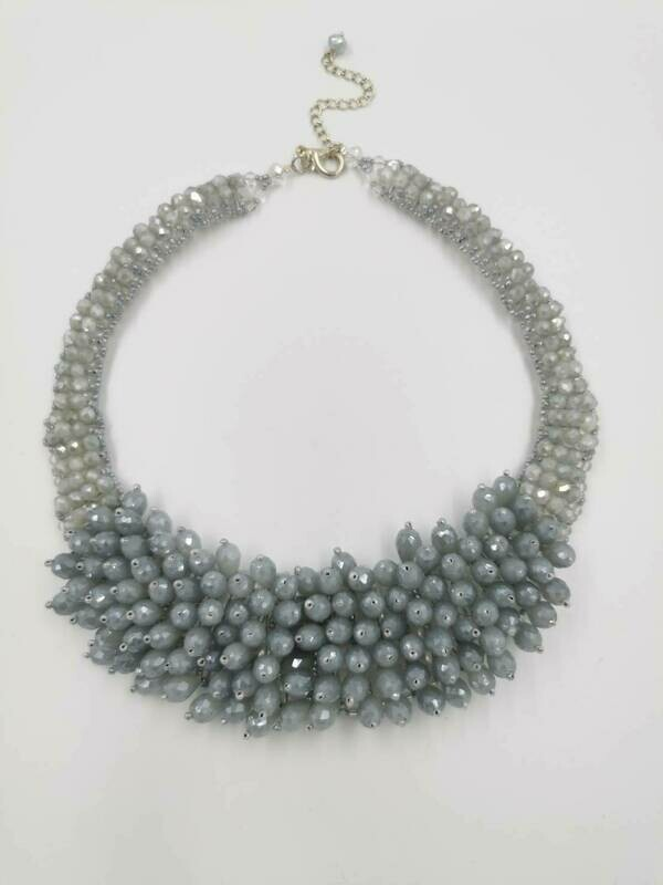 Silvery Show Stopper Necklace
