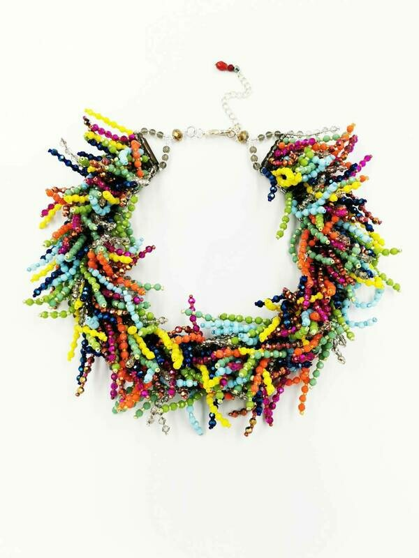 Colours of Summer Statement Necklace