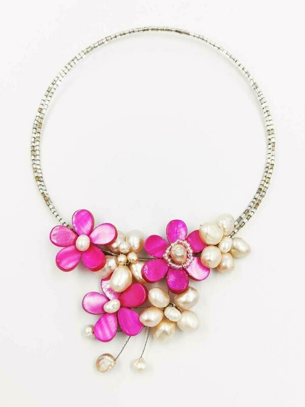 Tickled Pink Statement Necklace